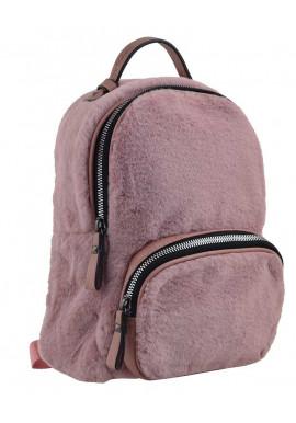 Фото Розовый молодежный рюкзак из меха YES Weekend YW-10