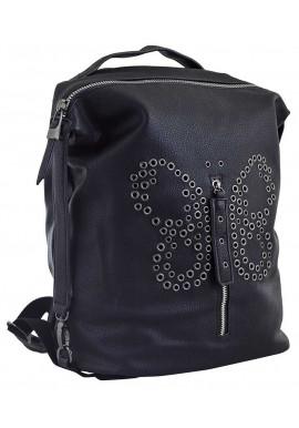 Черный молодежный рюкзак YES Weekend YW-17