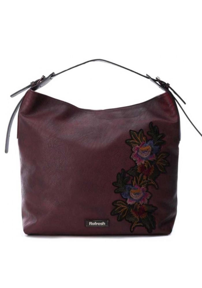 Бордовая женская сумка из экокожи Refresh 83170
