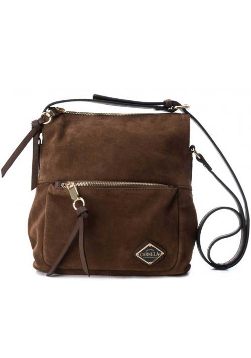 Замшевая женская сумка на плечо CARMELA 86034