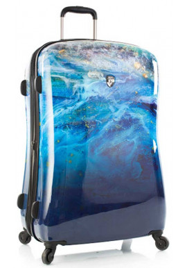 Стильный чемодан на колесах Heys Blue Agate L Blue Stone