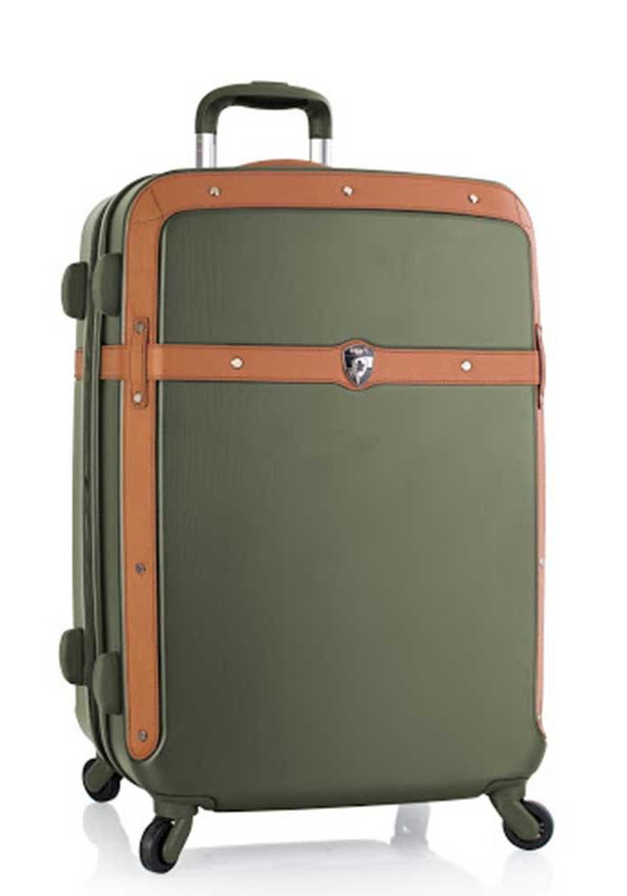 Оливковый чемодан на колесах Heys Heritage M Olive