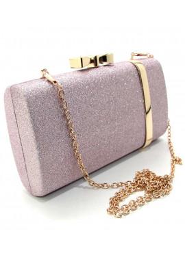 Фото Женский клатч на цепочке нежно фиолетового цвета