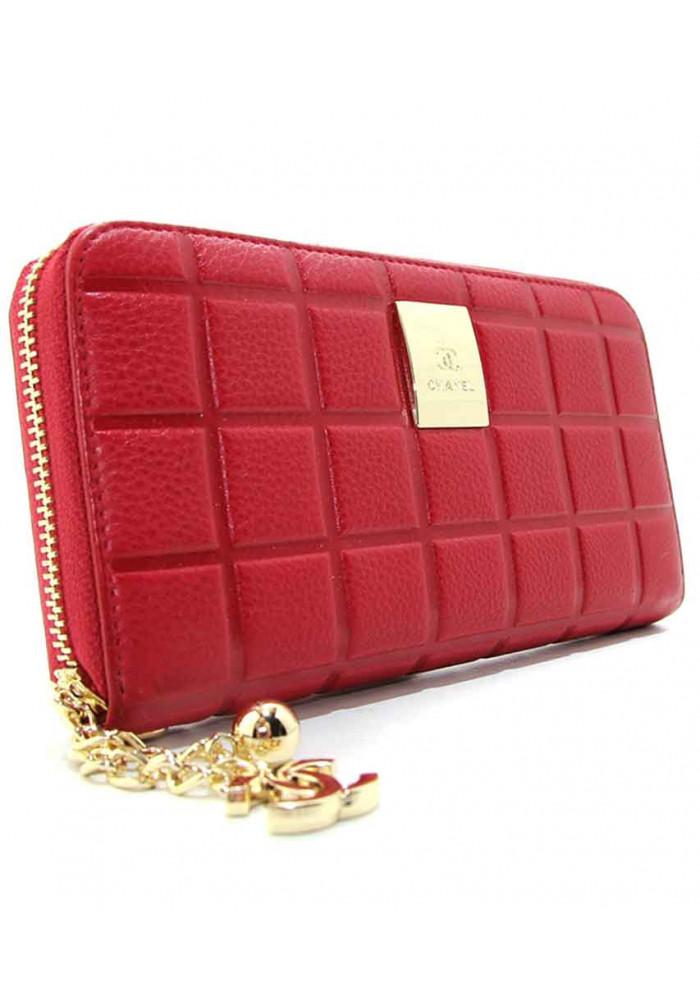 Женский кожаный красный кошелек CH 2002