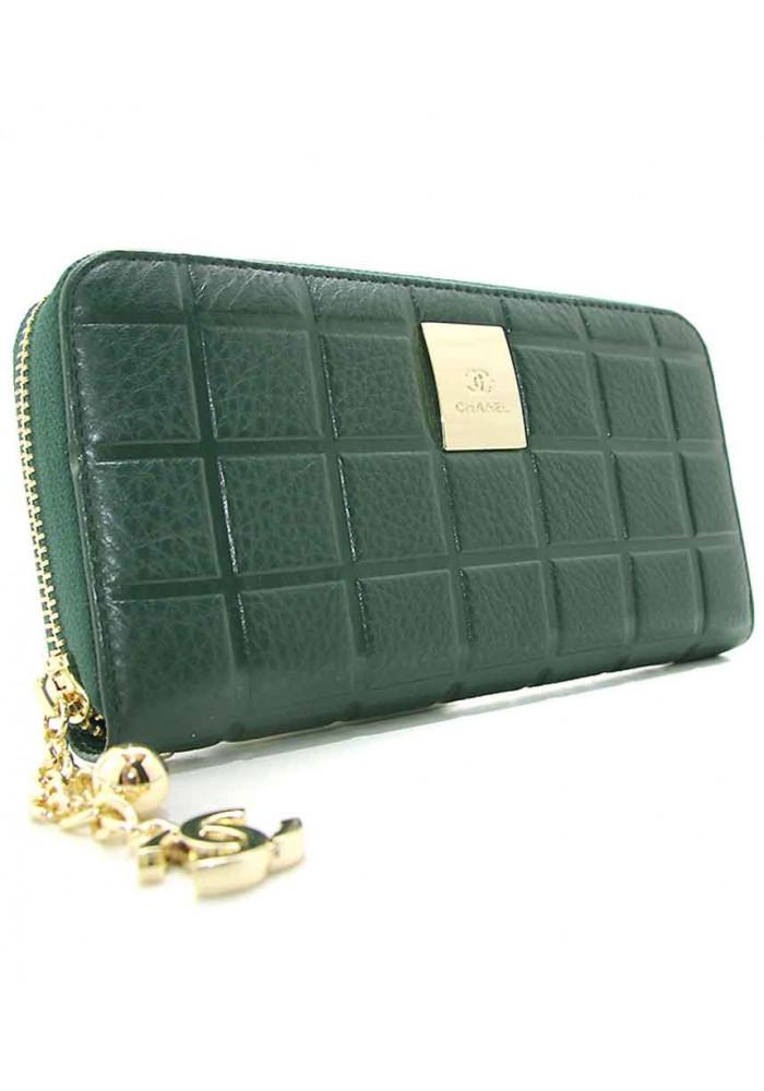 Женский зеленый кожаный кошелек CH 2002 94