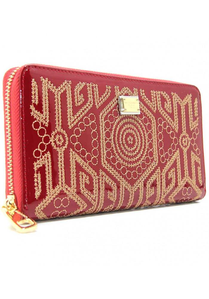 Женский кожаный кошелек DG 60103 красный
