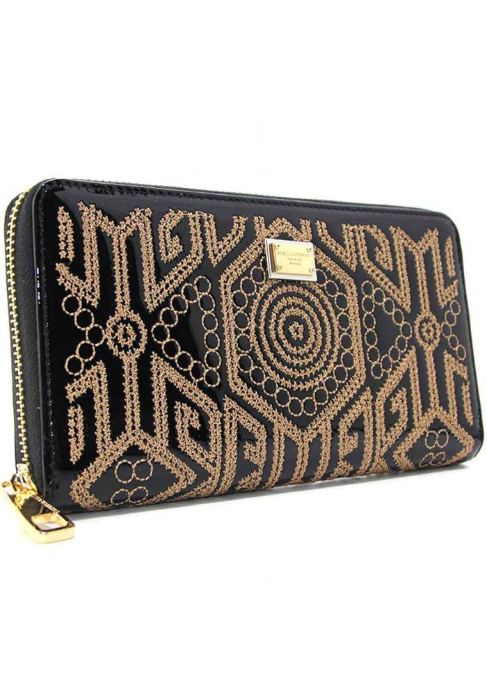 Черный женский кожаный кошелек DG 60103