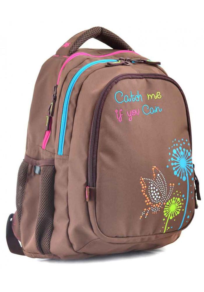"""Рюкзак подростковый коричневый YES """"Catch me"""" T-24"""