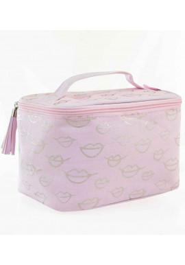 Фото Женская косметичка YES YW-30 Glamor Pearl розовая