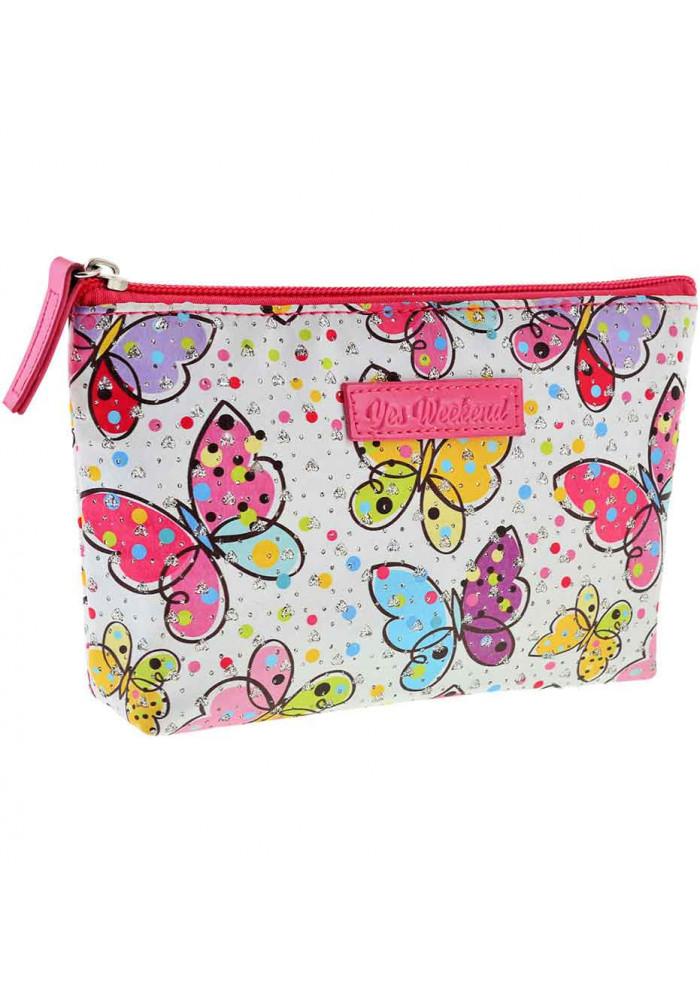 Женская косметичка с бабочками YES YW-51 Butterflies