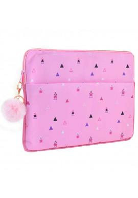 Фото Розовый чехол для ноутбука YES Triango