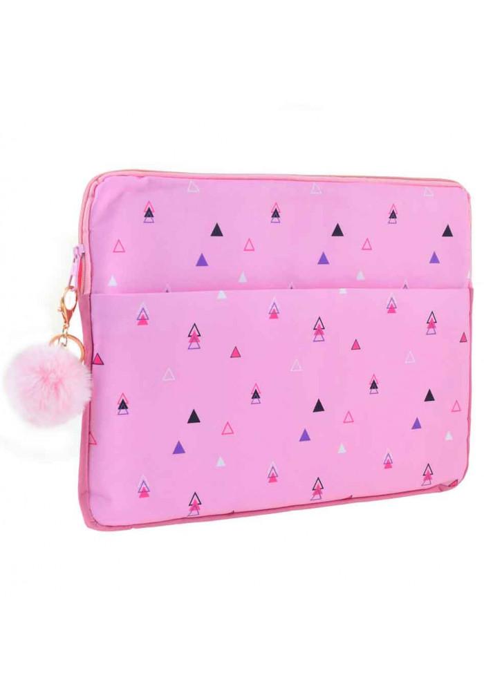 Розовый чехол для ноутбука YES Triango