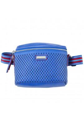 Фото Женская перфорированная поясная сумка YW-48 Messina синяя