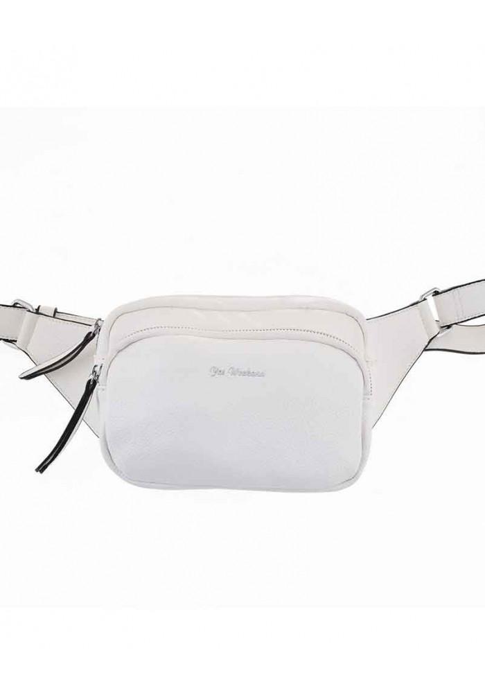 Женская сумка на пояс белого цвета цвета YW-49 Alda