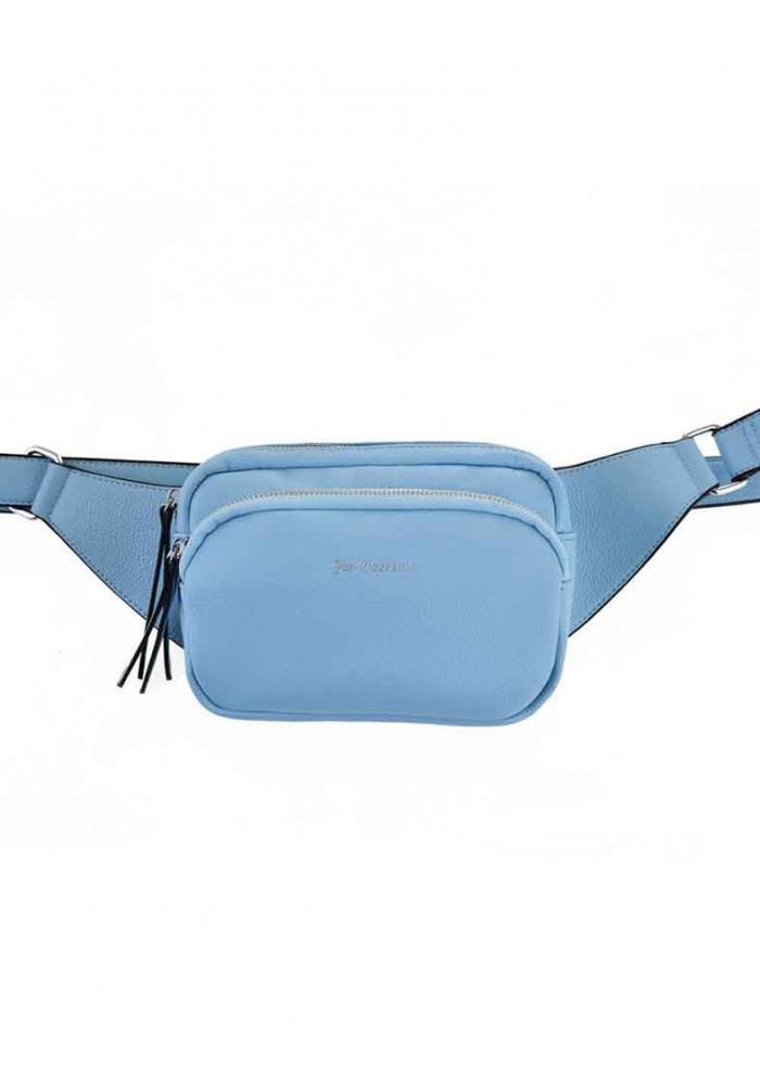 Женская сумка на пояс голубая YW-49 Alda
