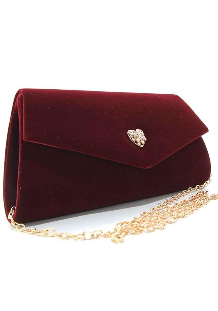 Фото Женская сумочка-клатч Rose Heart 103056-1 бордо