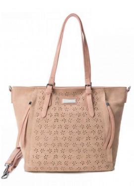 Фото Женская сумка замшевая Carmela 86091розовая
