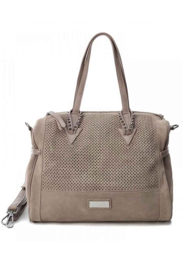 Фото Женская сумка замшевая Carmela 86100 светло-серая