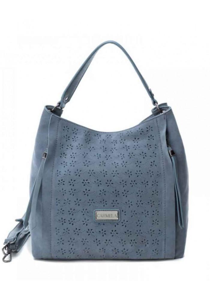 Фото Женская сумка Carmela 86092 замшевая синяя