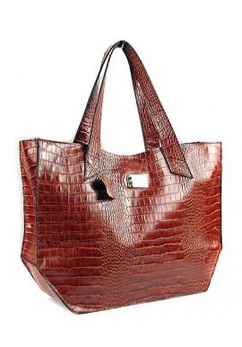 Фото Женская сумка из коричневой кожи Viladi 003