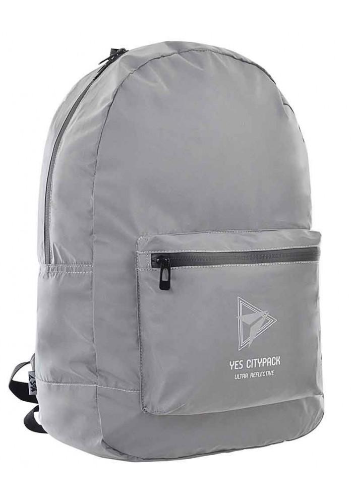 Фото Светоотражающий молодежный рюкзак YES Ultra Reflective T-66 Grey