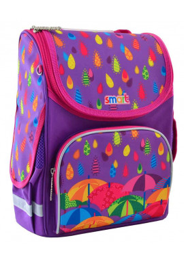 Яркий школьный каркасный рюкзак SMART PG-11 Kapitoshka