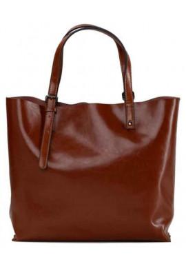 Фото Кожаная сумка-шопер коричневого цвета Grays