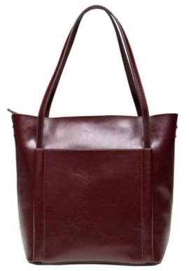 Фото Кожаная женская сумка Grays 2013B темно-коричневая