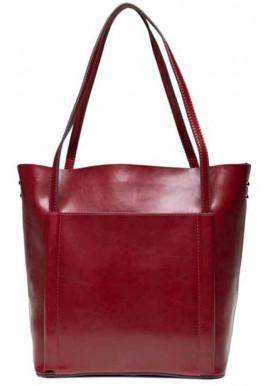 Фото Кожаная женская сумка Grays GR-2013R бордо