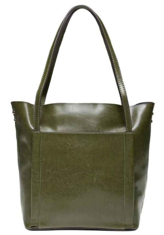 Фото Кожаная женская сумка Grays GR-2013GR зеленая