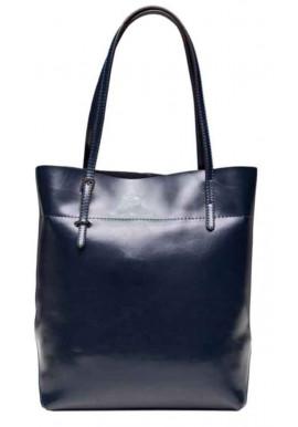 Фото Кожаная женская сумка Grays GR-8098NV синяя