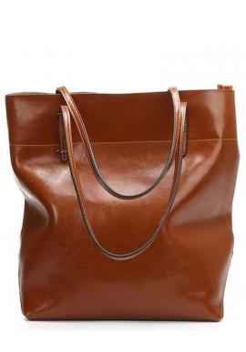 Фото Кожаная женская сумка Grays GR-8098LB коричневая