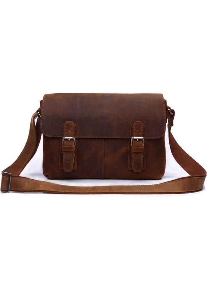 Кожаная мужская сумка на плечо - месенджер Tiding Bag 6002B-1
