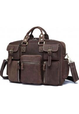 Фото Кожаная мужская дорожная сумка TIDING BAG 7028B