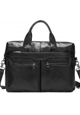 Фото Мужской кожаный портфель Bexhill Bx9005A черный