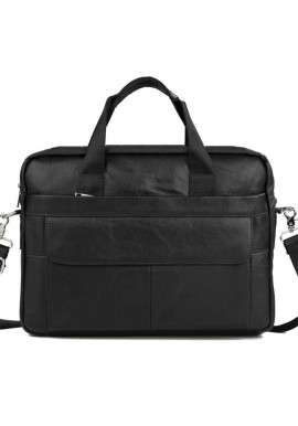 Фото Мужской черный портфель из кожи Bexhill Bx1131A-1