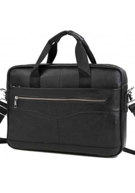 Фото Мужской портфель из черной кожи Bexhill Bx1128A