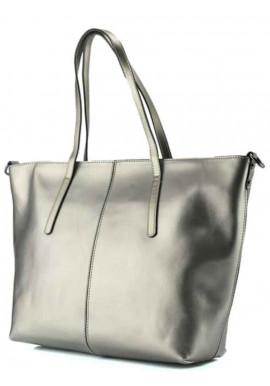 Фото Женская сумка из серебристой кожи Grays GR3-8687GM