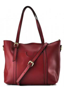 Фото Кожаная женская сумка Grays GR3-172BO бордо