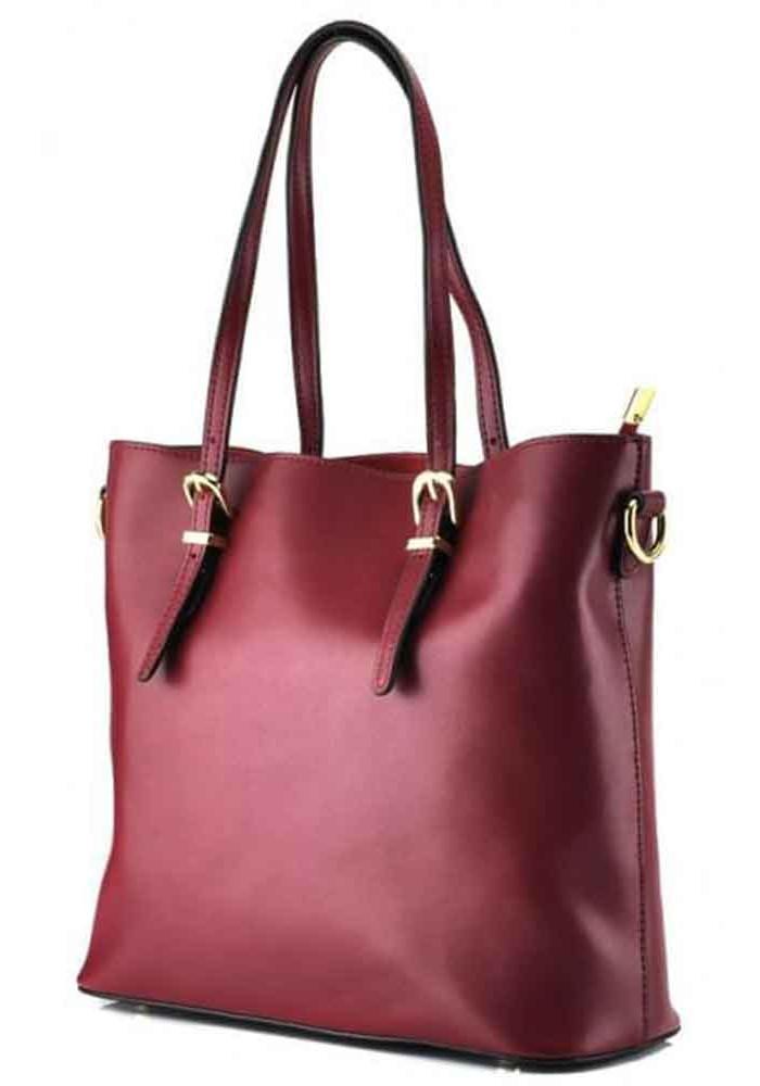 Фото Женская сумка Grays GR3-173BO из бордовой кожи