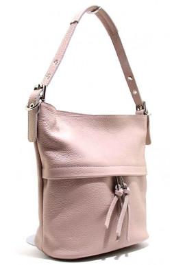 Фото Кожаная женская сумка Italia 2467 пудра