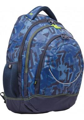 "Рюкзак подростковый синий YES ""Graffity"" T-14"