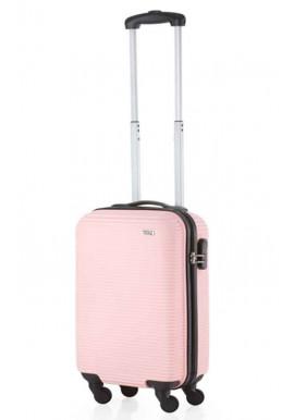 Чемодан для девушки в самолет TravelZ Horizon S Baby Pink