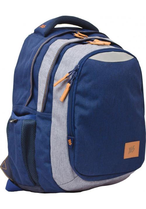 """Рюкзак для подростков """"1 вересня"""" синий """"Stylish"""" T-22"""
