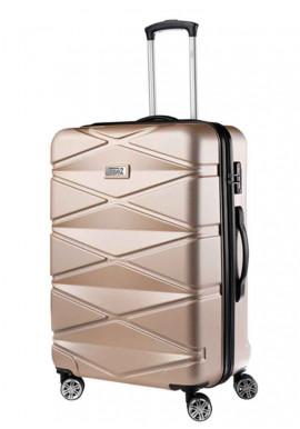 Женский чемодан TravelZ Diamond M Champagne