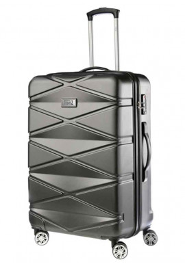 Мужской чемодан TravelZ Diamond M Anthracite