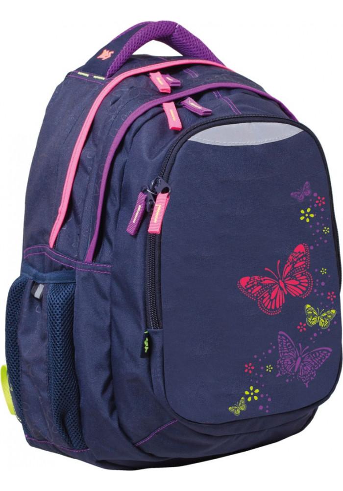 """Рюкзак для подростка фиолетовый YES """"Butterfly"""" T-22"""