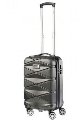 Мужской чемодан для ручной клади TravelZ Diamond S Anthracite