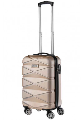 Женский чемодан для ручной клади TravelZ Diamond S Champagne