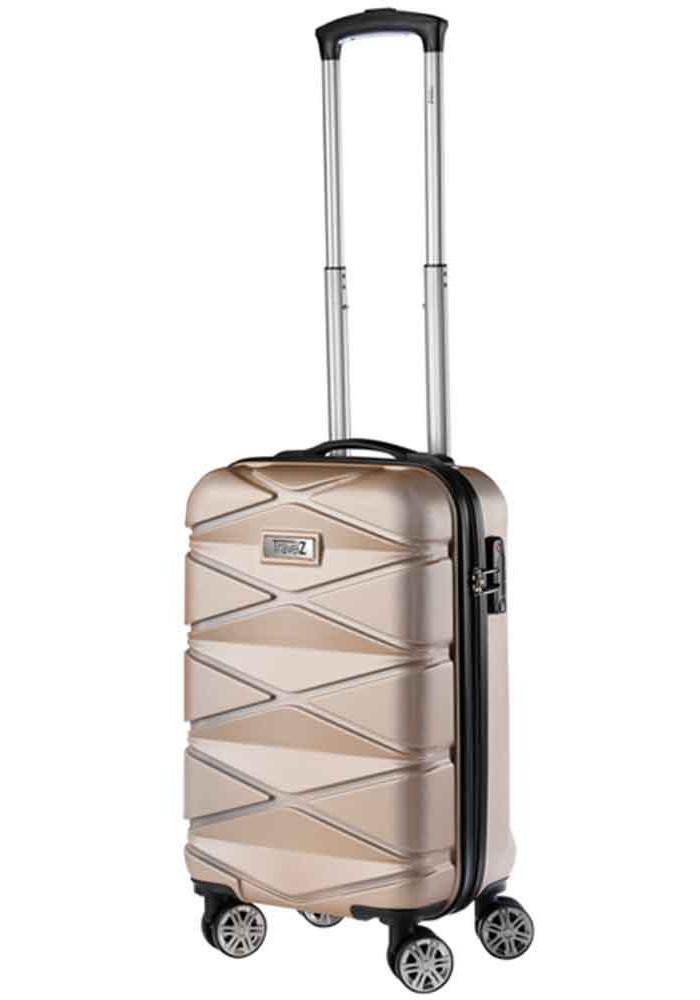 Фото Женский чемодан для ручной клади TravelZ Diamond S Champagne